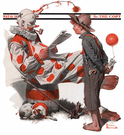 1918-05-18-saturday-evening-post-norman-rockwell-cover-boy-and-clown-no-logo-400-digimarc
